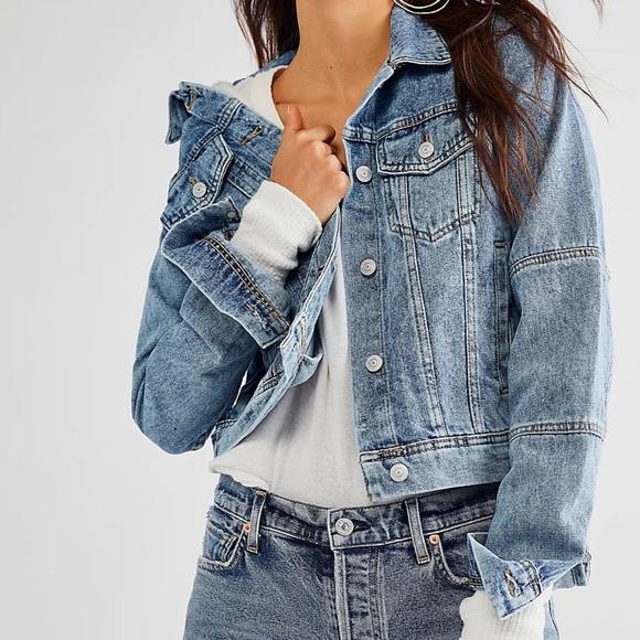 Free People | Rumors Denim Jean Jacket Size Large